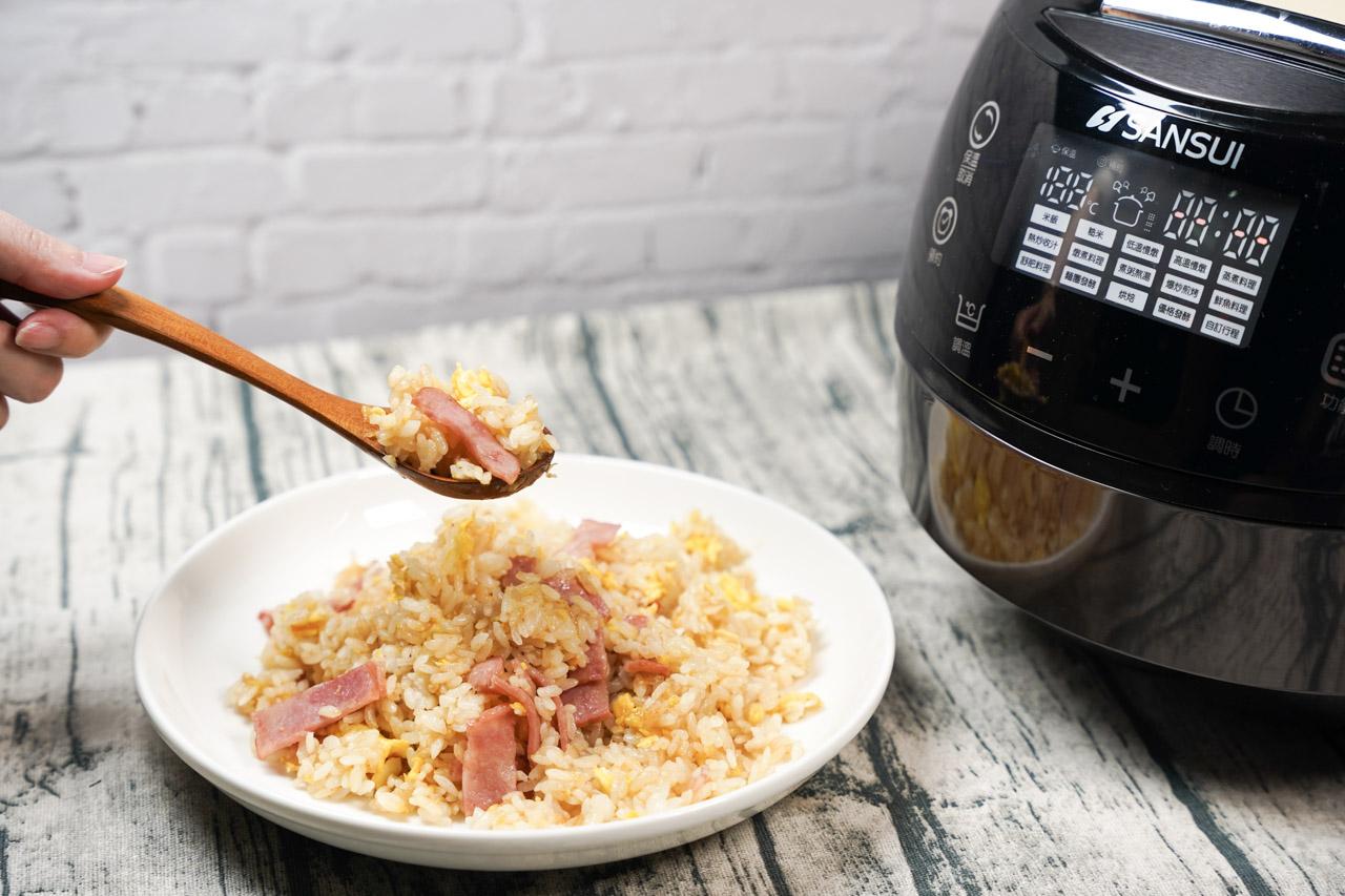 智能萬用鍋料理.奶油培根蛋炒飯01
